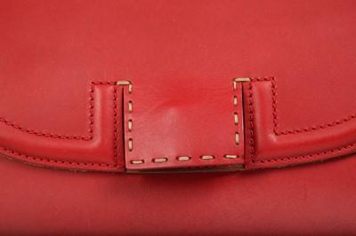 Lot 8 - Fendi Red Silvana Top Handle Bag