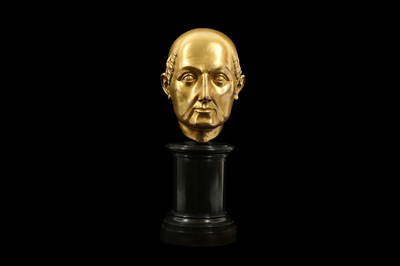 Lot 13 - A FLORENTINE GILT BRONZE RELIQUARY HEAD IN THE MANNER OF BACCIO BANDINELLI, PROBABLY 19TH CENTURY