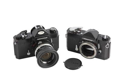 Lot 35 - A Pair of Nikon Nikkormat SLR Cameras