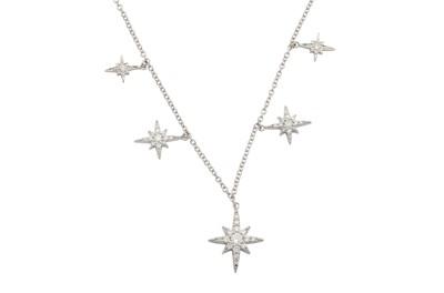 Lot 37 - A diamond star necklace