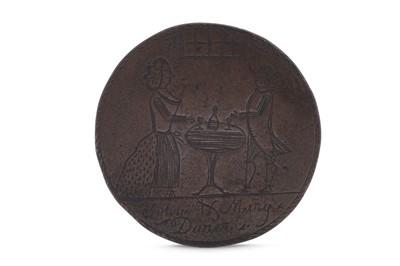 Lot 73 - A late 18th century engraved English love token, circa 1785