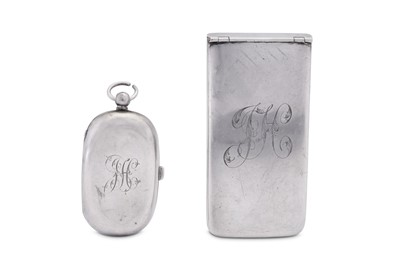 Lot 15 - An Edwardian sterling silver patent card case, London 1907 by Henry Williamson Ltd