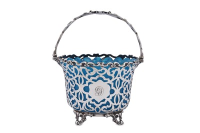 Lot 481 - A Victorian sterling silver sugar basket, London 1851 by Charles Riley and George Storer