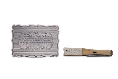 Lot 5 - A Victorian sterling silver presentation snuff box, Birmingham 1858 by Edward Smith