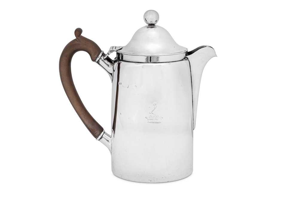 Lot 496 - A George IV sterling silver coffee biggin, London 1826 by Charles Fox II