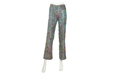 Lot 95 - Dolce & Gabbana Blue Embellished Trousers - Size 40