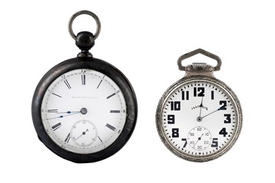Lot 4 - 2 ATTRACTIVE AMERICAN  POCKET WATCHES.