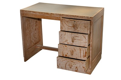 Lot 23 - A HEAL'S LIMED OAK DESK