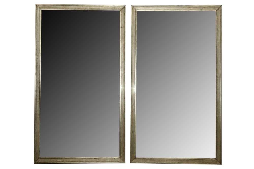 Lot 27 - A PAIR OF WALL MIRRORS