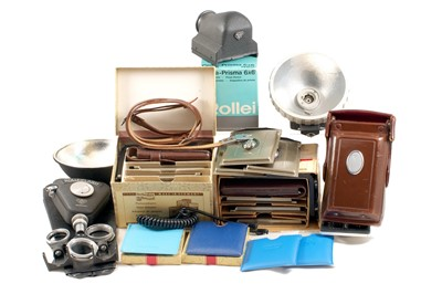 Lot 341 - Rolleiflex Plate Backs, Prism & Filters etc.