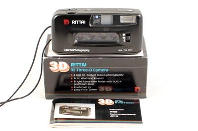 Lot 68 - A Rare Rittai 35mm 3D Lenticular Compact Camera.
