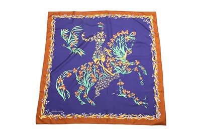 Lot 69 - Hermes 'Cheval Fleuri' Silk Scarf