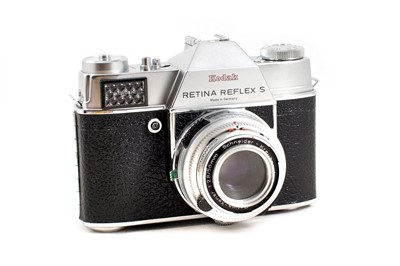 Lot 260 - 3-Lens Kodak Retina Reflex S Outfit.