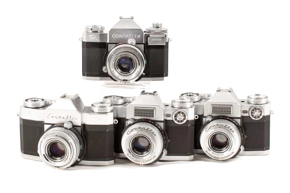 Lot 40 - Group of Three Zeiss Ikon Contaflex Cameras.
