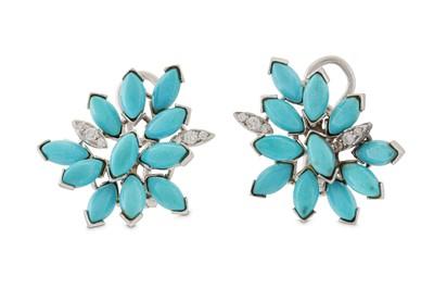 Lot 30 - A pair of diamond earrings