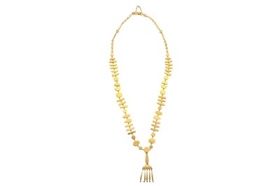 Lot 2 - Wendy Ramshaw | A gold pendant necklace, 1976