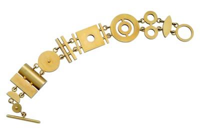 Lot 6 - Wendy Ramshaw | A gold bracelet, 2008