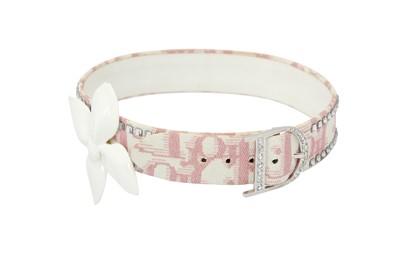 Lot 34 - Christian Dior Pink Diorissimo Embellished Choker