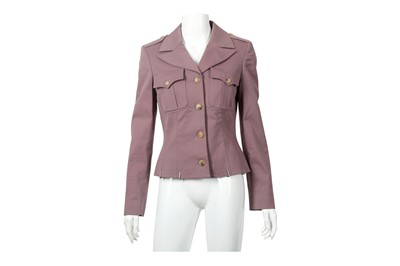 Lot 68 - Alexander McQueen Lilac Military Style Jacket - Size 42