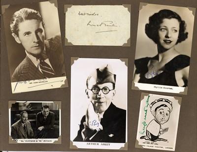 Lot 1022 - Autograph Albums.- Actors and Entertainers