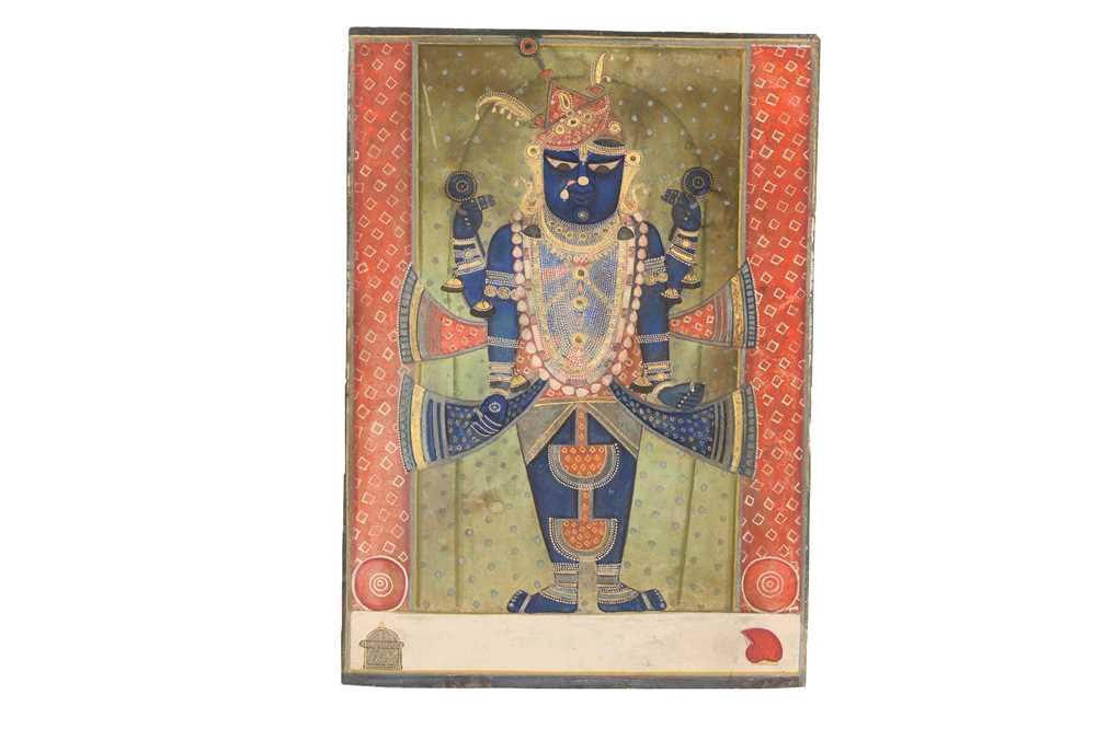 Lot 1 - A STANDING PORTRAIT OF SRINATHJI