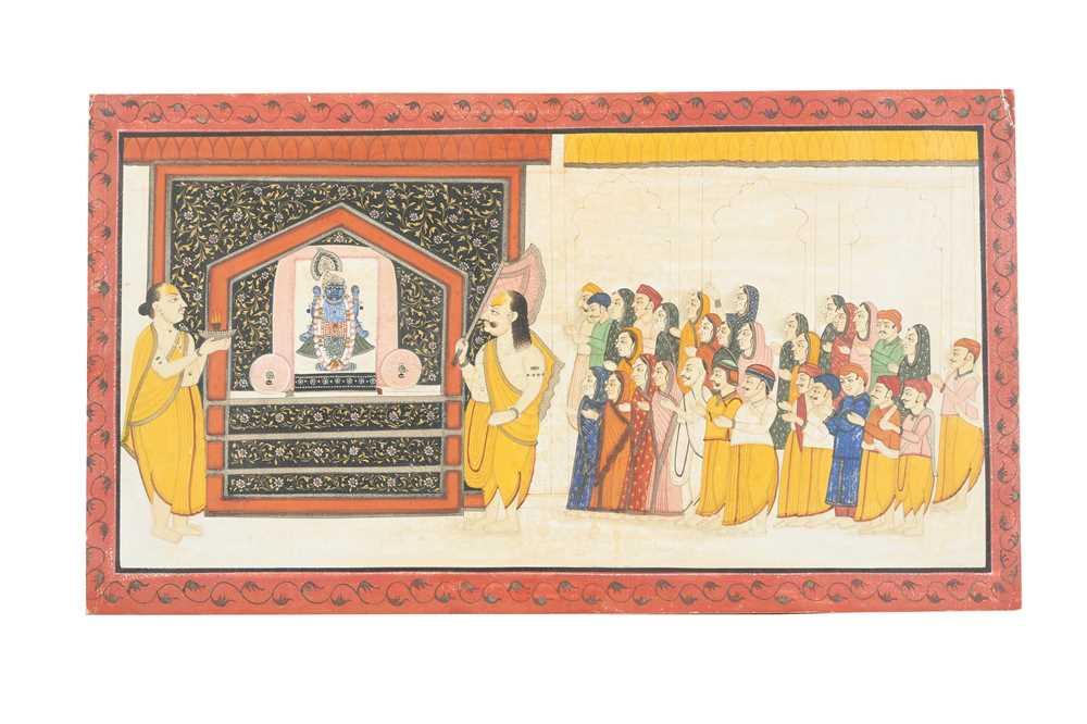 Lot 5 - A COMMUNAL WORSHIP SCENE OF SHRINATHJI