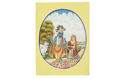 Lot 11 - LORD KRISHNA AND HIS LOVER RADHA