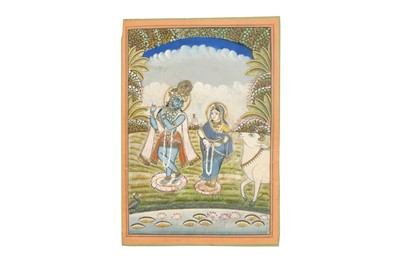 Lot 13 - LORD KRISHNA AND HIS LOVER, RADHA