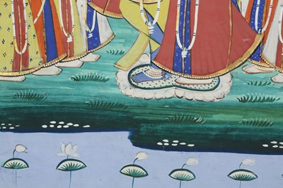 Lot 14 - KRISHNA AND RADHA WITH THE GOPIS