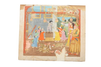 Lot 15 - A GROUP OF FOUR INDIAN PAINTINGS OF VAISHNAVA CONTENT