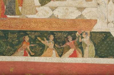 Lot 16 - AN ILLUSTRATION TO A BHAGAVATA PURANA SERIES: THE CELEBRATION OF LORD KRISHNA'S BIRTH