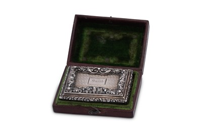 Lot 10 - A cased George IV sterling silver vinaigrette, London 1827 by Nathanial Mills