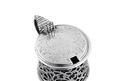 Lot 473 - An early Victorian sterling silver mustard pot, London 1837 by Edward Farrell