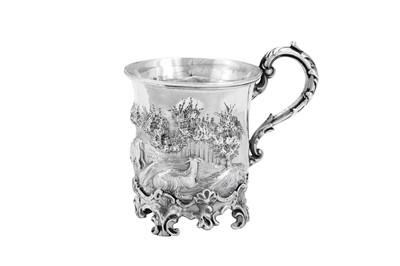 Lot 479 - A Victorian sterling silver christening mug, London 1844 by John Edward Terry