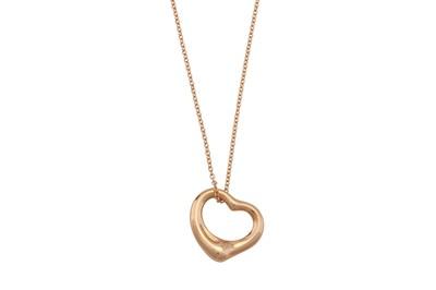 Lot 24 - Elsa Peretti for Tiffany & Co. | An 'Open Heart' pendant necklace