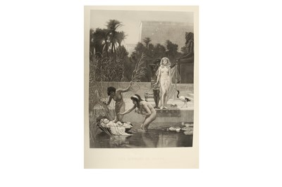Lot 1013 - FREDERICK GOODALL, R. A. & RICHARD JOSEY (ENGRAVER) THE FINDING OF MOSES