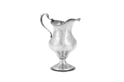Lot 492 - A George III sterling silver cream jug, London 1781 by Hester Bateman