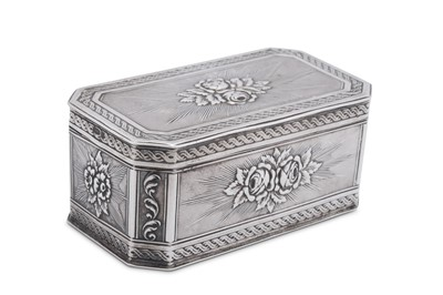 Lot 25 - An early 20th century German sterling silver snuff box, Kesselstadt by Karl Kurz, import marks for Chester 1908 by Montague Friedlander