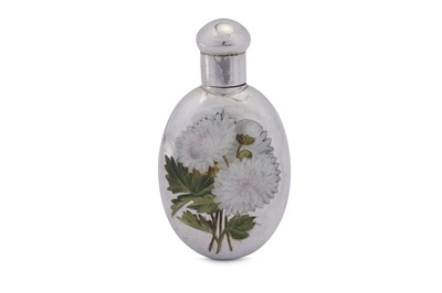 Lot 48 - A Victorian sterling silver and enamel scent bottle, London 1889 by Sampson Mordan