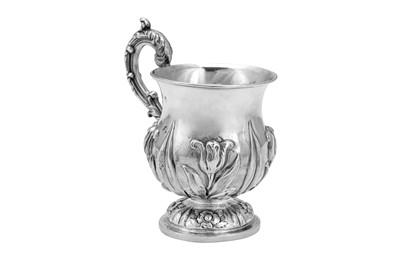 Lot 478 - A William IV sterling silver christening mug, London 1836 by John Edward Terry