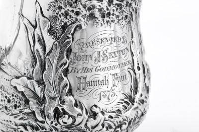 Lot 480 - Native American interest – A Victorian sterling silver christening mug, London 1871 by Robert Harper