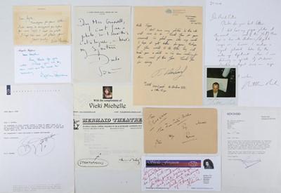Lot 1030 - Autograph Collection.- British Actors