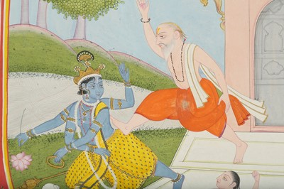 Lot 19 - THE TRIMURTI PATIENCE TEST: MAHARISHI BHRIGU KICKING LORD VISHNU AWAKE
