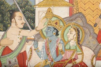 Lot 24 - A DURBAR AT THE COURT OF LORD RAMA AND SITA