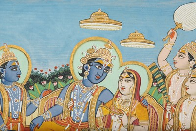 Lot 27 - ENTHRONED RAMA AND SITA