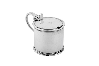 Lot 472 - A William IV provincial sterling silver mustard pot, York 1831 by James Barber, George Cattle II & William North