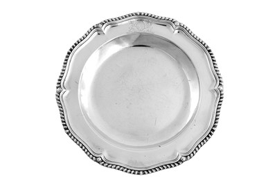 Lot 501 - Duke of Beaufort – A set of four early George III sterling silver second course dishes, London 1760 by William Cripps