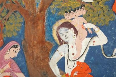 Lot 33 - THE HINDU GOD SHIVA AND HIS FAMILY