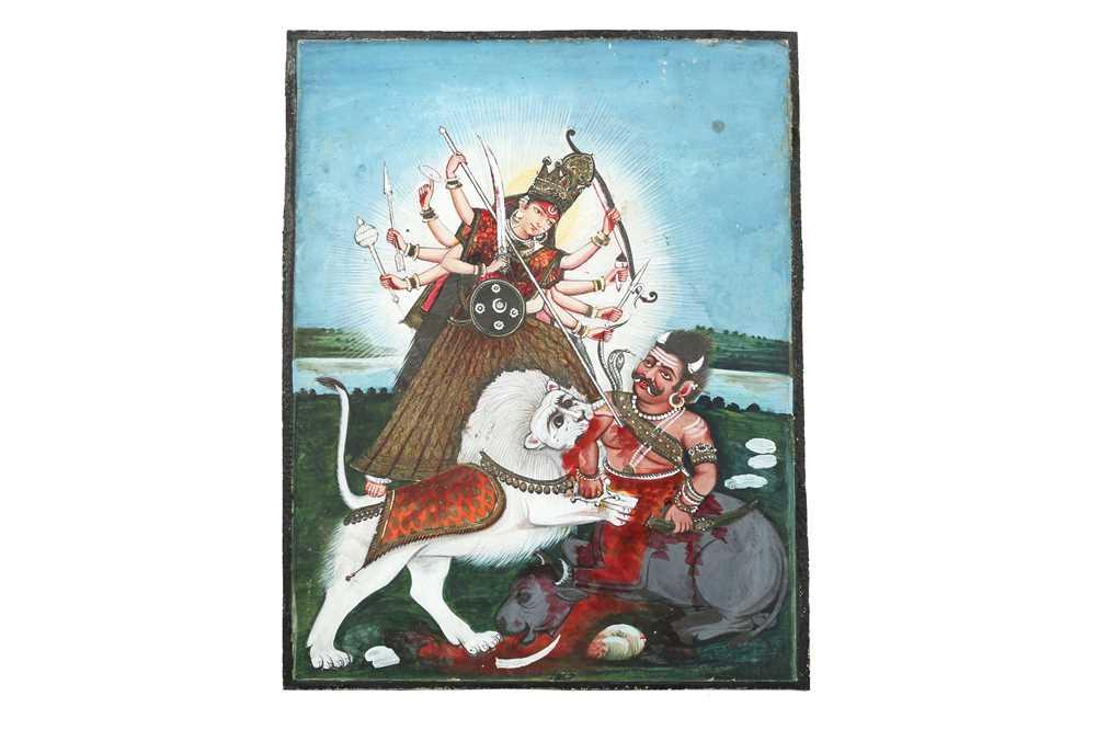 Lot 35 - THE GODDESS DURGA DEFEATING THE BUFFALO DEMON MAHISHA