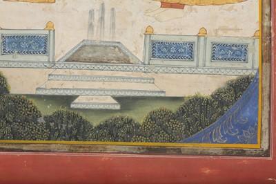 Lot 37 - MAHARAJA TAKHT SINGH OF JODHPUR BEING HANDED A SWORD BY THE GODDESS BAHUCHARA MATA